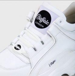 BUFFALO CLASSIC LOW WHITE LEATHER
