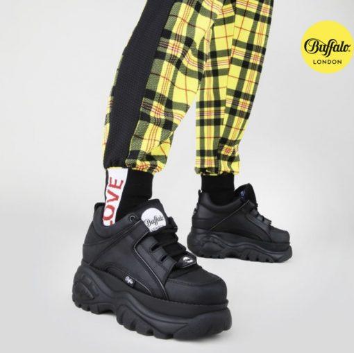 BUFFALO CLASSIC LOW BLACK LEATHER