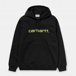 CARHARTT WIP felpa cappuccio logo fluo
