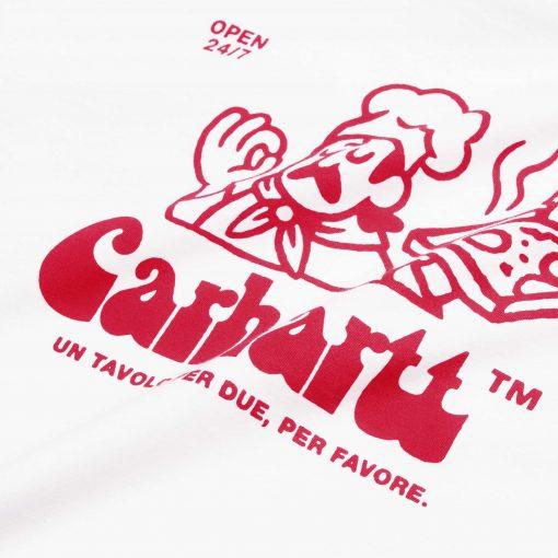 CARHARTT WIP t-shirt bianca pizza