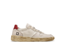 D.A.T.E. SNEAKERS COURT COURT ARGEGNO (WHITE-RED)