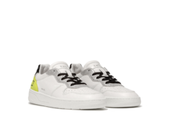 D.A.T.E. SNEAKERS COURT FLUO WHITE-YELLOW