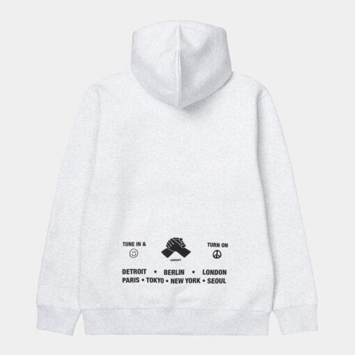 CARHARTT Hooded Smiley Ssweatshirt ASH