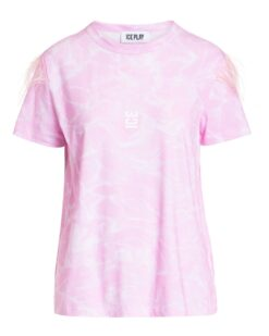 ICE PLAY T-shirt con piume (rosa)
