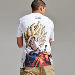 DOLLY NOIRE X Dragon Ball Super Saiyan Goku T-SHIRT (white)