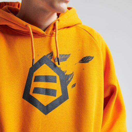 DOLLY NOIRE Logo Foglie Hoodie Orange