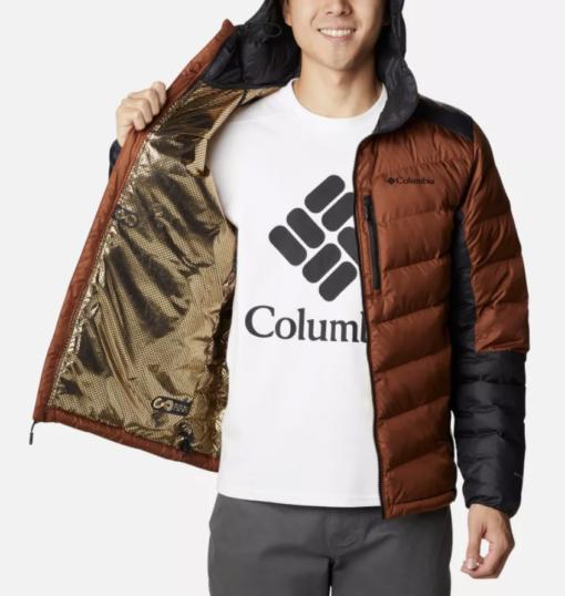 COLUMBIA Piumino con cappuccio Labyrinth Loop™ (dark amber/black)