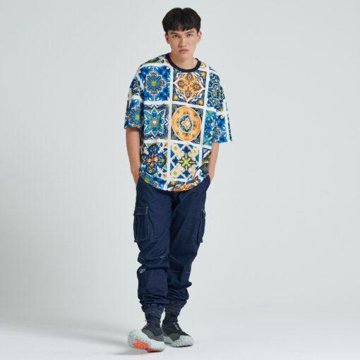 DOLLY NOIRE Maioliche Pattern T-shirt